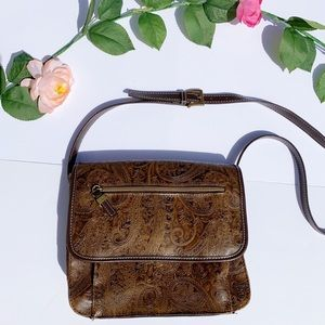 Relic | Faux Leather Brown Paisley Crossbody